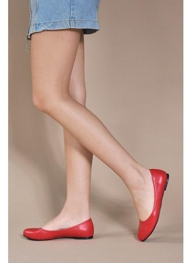 Vizon Ayakkabı Babet Kırmızı